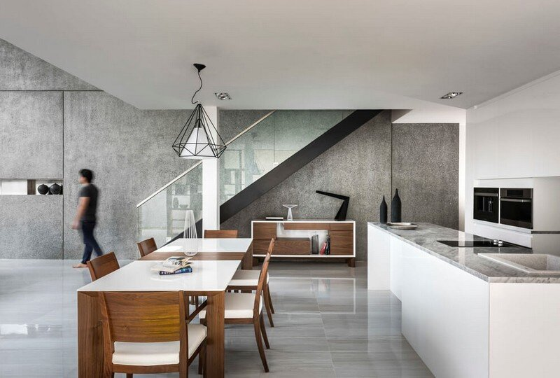 Semi-Detached Home in Singapore by Materium (3)