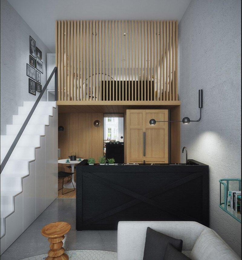 33 Sqm Mezzanine Apartment In London Art Buro 4