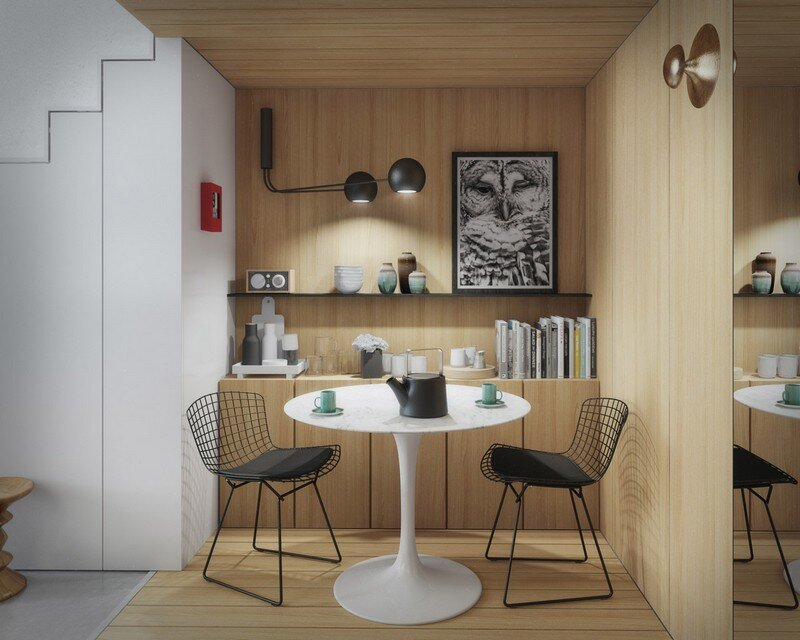 33 sqm Mezzanine Apartment in London Art Buro 8