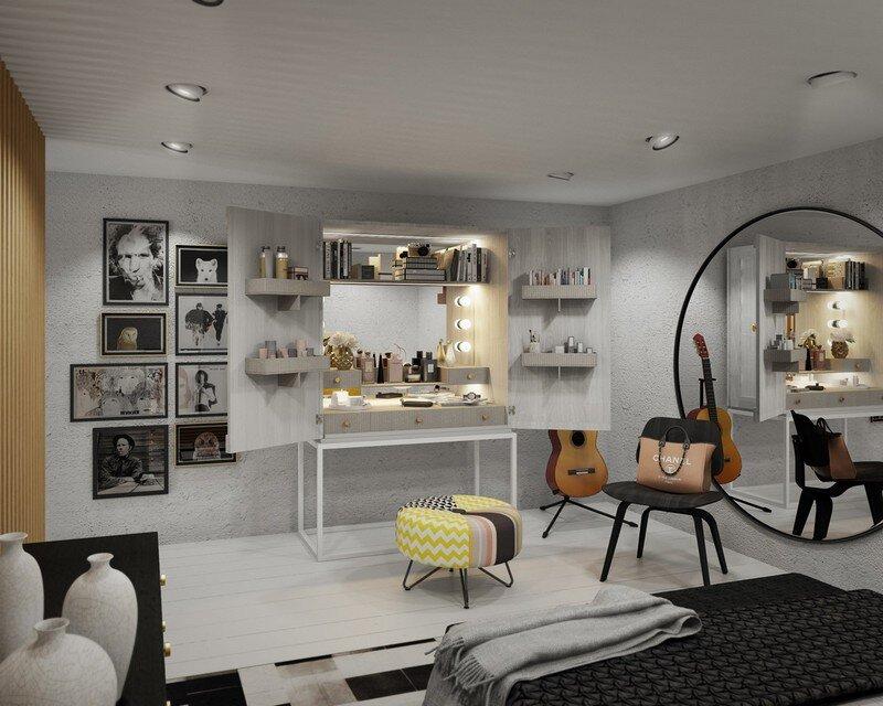 33 sqm Mezzanine Apartment in London Art Buro 9
