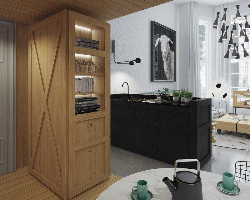 33 sqm Mezzanine Apartment in London Art Buro 7