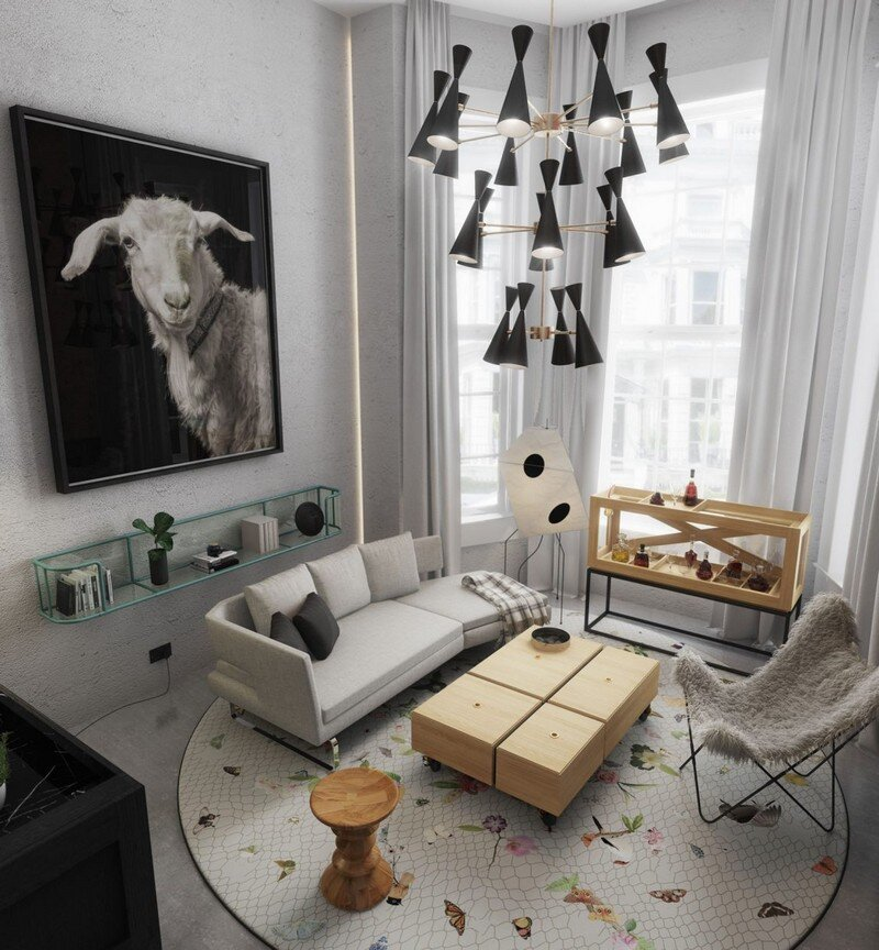 33 sqm Mezzanine Apartment in London Art Buro 2