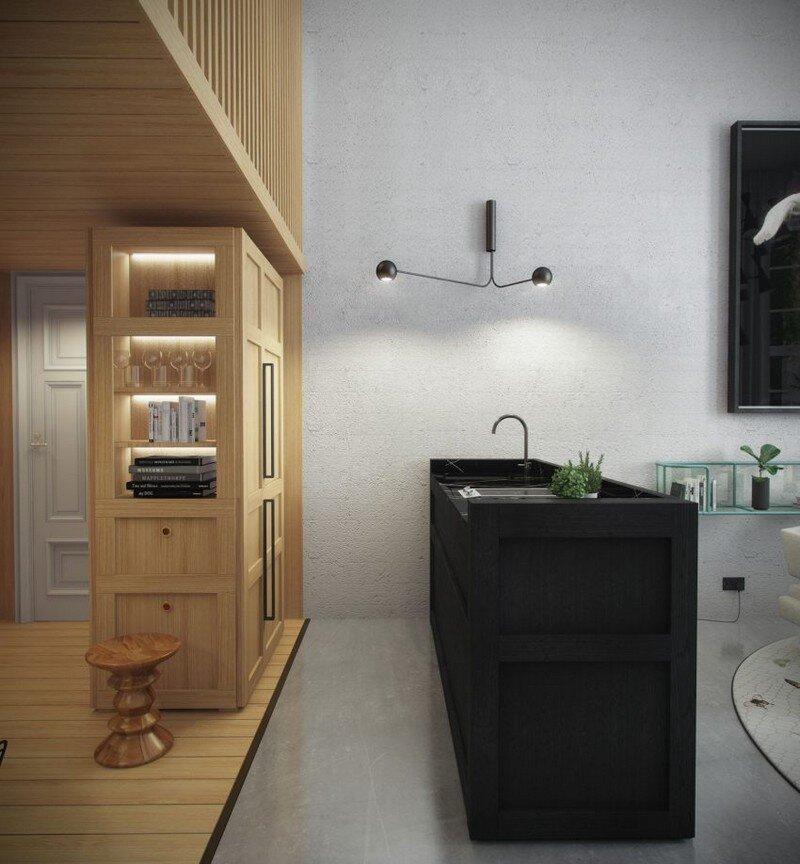33 sqm Mezzanine Apartment in London Art Buro 6