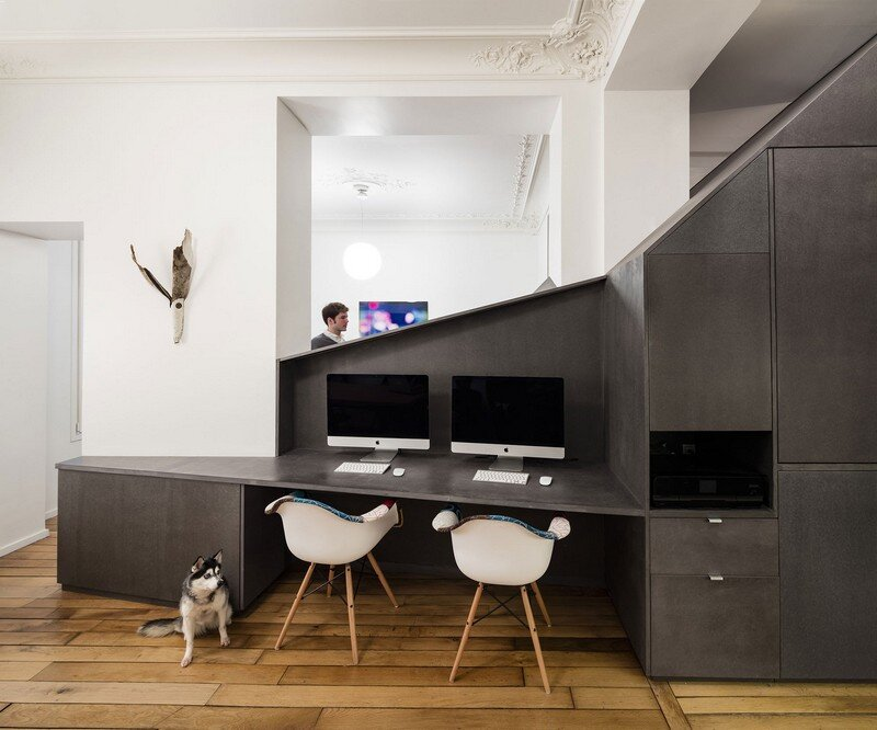 A Small Parisian Apartment with Ingenious Interior Design Studio Razavi Architecture 2