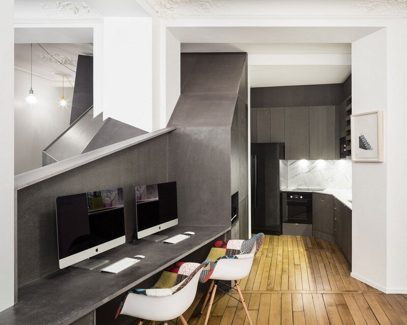 A Small Parisian Apartment with Ingenious Interior Design Studio Razavi Architecture 4