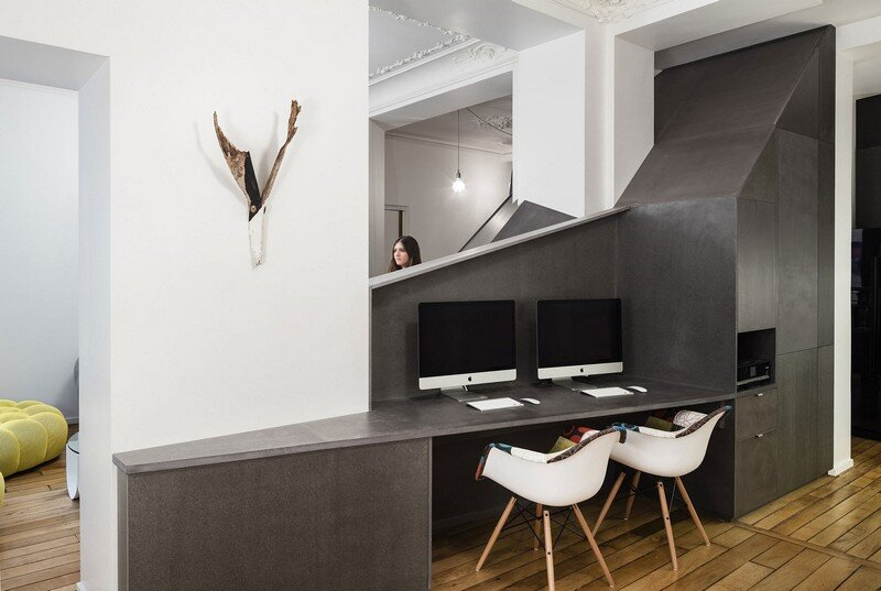 A Small Parisian Apartment with Ingenious Interior Design Studio Razavi Architecture 7