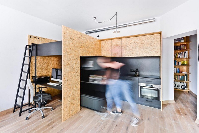 Multfunctional Space Brandburg Design Studio and Apartment in 37sqm 13