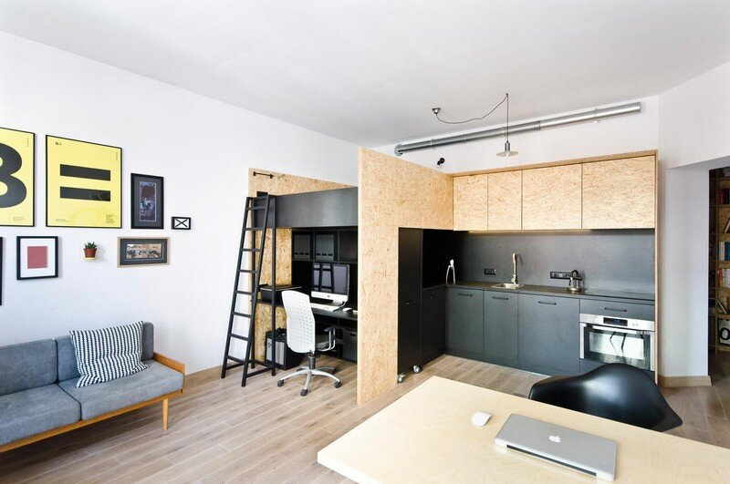 Multfunctional Space Brandburg Design Studio and Apartment in 37sqm 1