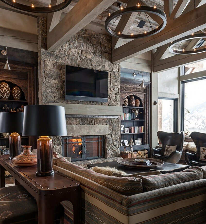 Ski Chalet in the Yellowstone Club - A Grounded Nest at 2700m (5)
