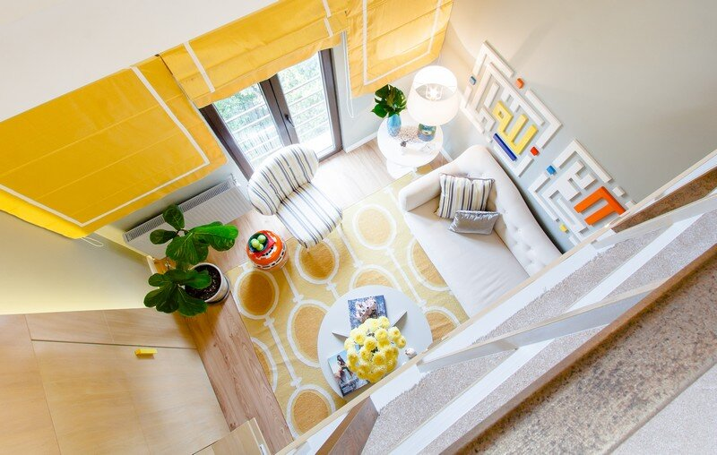 Yellow Apartment - A Bath of Splashy Lights by Hamid Nicola Katrib 1