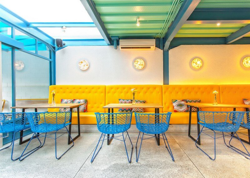Yelo Eatery - Pop Interiors with Modern Industrial Vibe 3