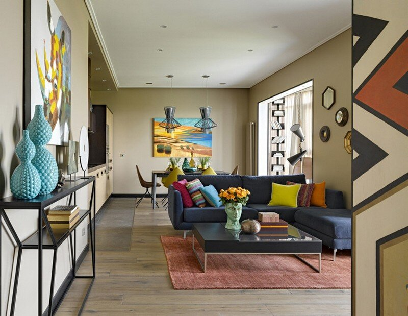 Colorful Geometry Ndebele Apartment With Decor Inspired
