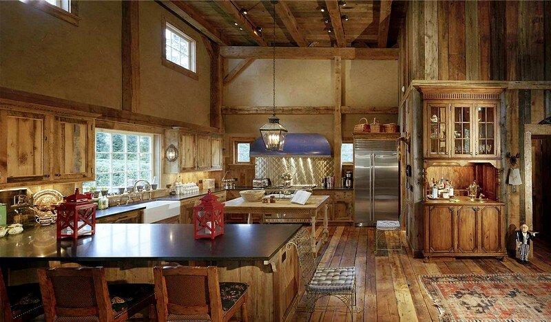 1870 rustic barn restored by douglas vanderhorn architects for Barn house kitchen ideas