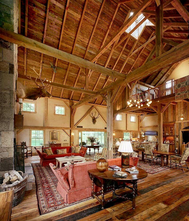 1870 rustic barn restored by douglas vanderhorn architects for Rustic barn home plans