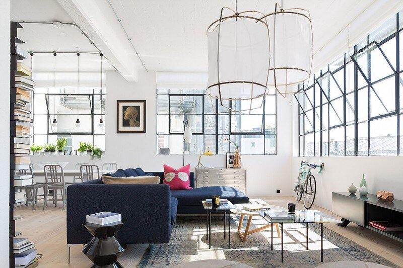 West London Loft Apartment by Nia Morrison Studio