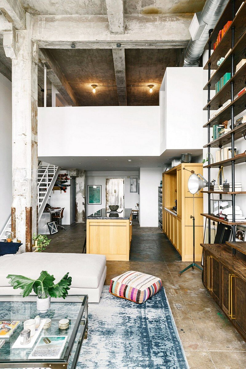 brooklyn loft with aged brick  concrete floors  and exposed beams