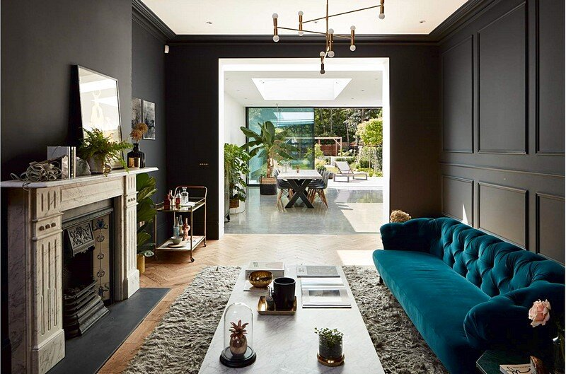 House Four in London – Extensively Refurbished of Large Double Fronted House