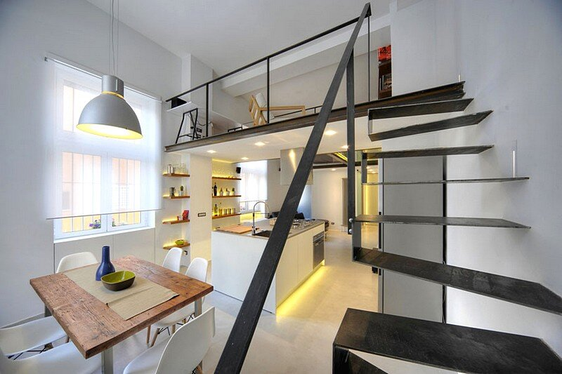 Loft 78 in Roma - 40 sqm Apartment Renovated by Maurizio Constanzi