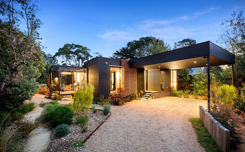 Merricks beach house a contemporary take on the great for Beach house designs tasmania