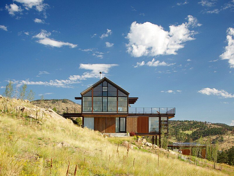 Sunshine canyon house by renee del gaudio architecture for Colorado house