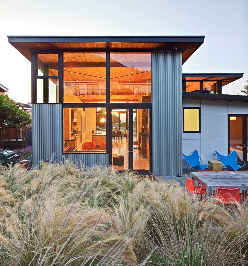 Stinson beach house by wa design california for California beach house plans