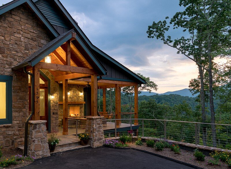 Waynesville Mountain Modern Craftsman House 25