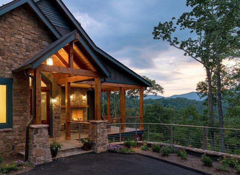 Waynesville Mountain Modern Craftsman House 25