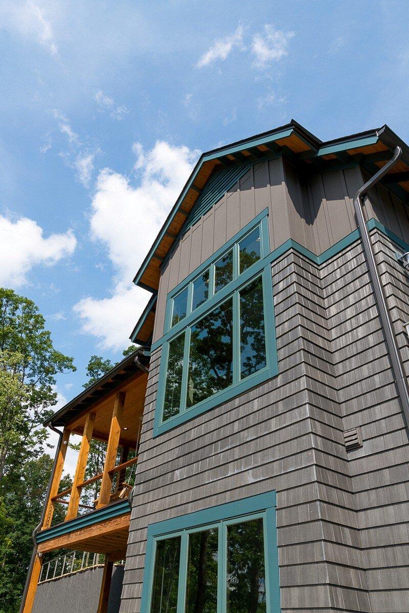 Waynesville Mountain Modern Craftsman House 24