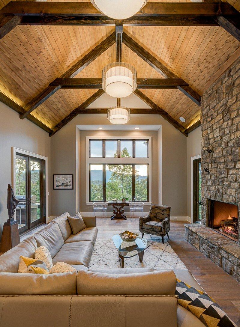 Waynesville mountain modern craftsman house acm design for Contemporary style home decor