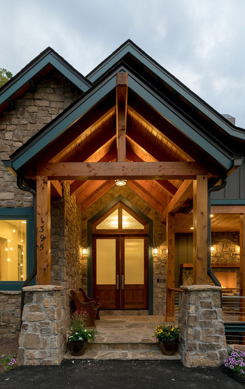 Waynesville mountain modern craftsman house acm design for Craftsman style architecture
