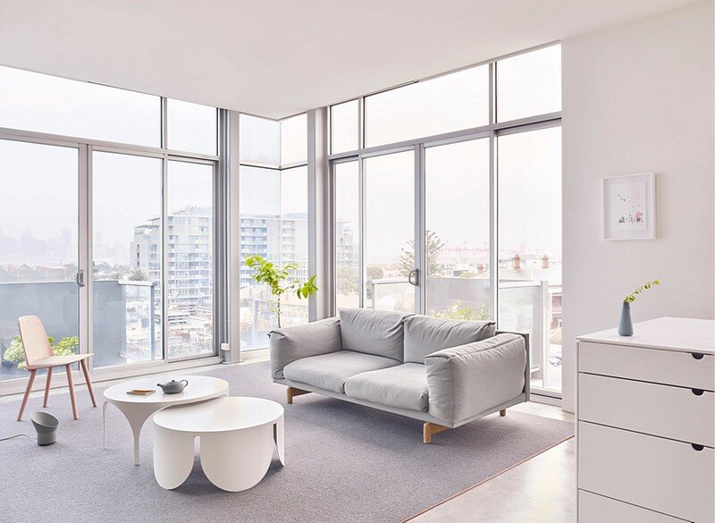 Whitehall street apartment by boardgrove architects for Apartment design melbourne