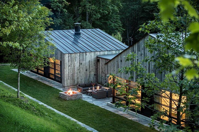 Woodshed Vermont Guest House Birdseye Design