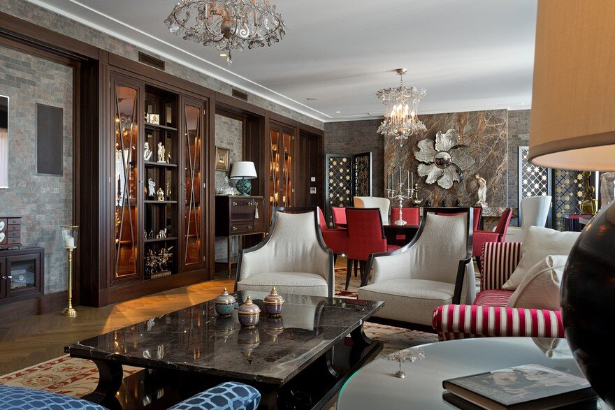 American Style Luxury Apartment Inspired By 30s Alexandr Shepel Architecture And Design