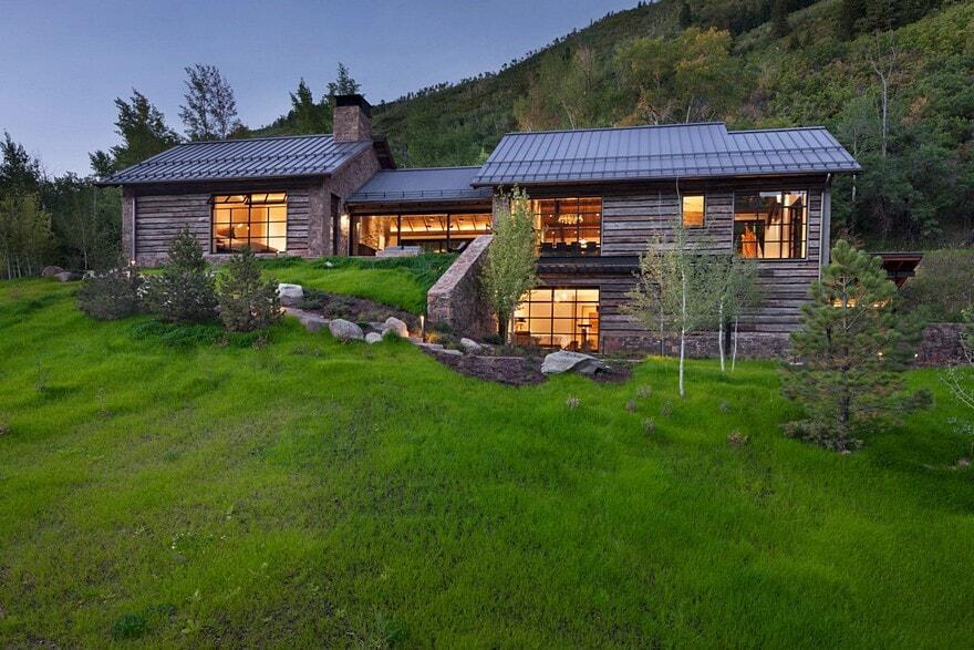 Aspen artist house miller architects for Aspen house