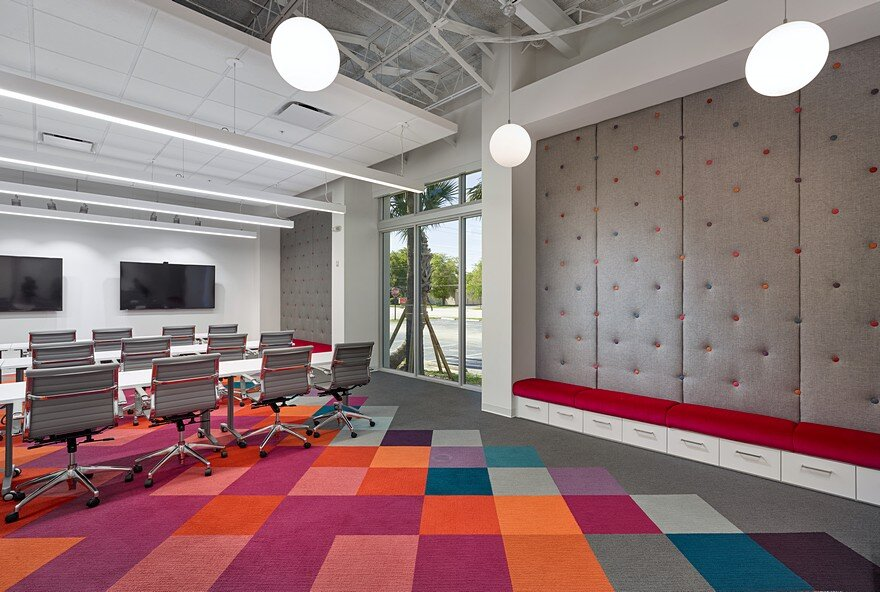 Stantec designs headquarters for hospitality upholstery for Office design events