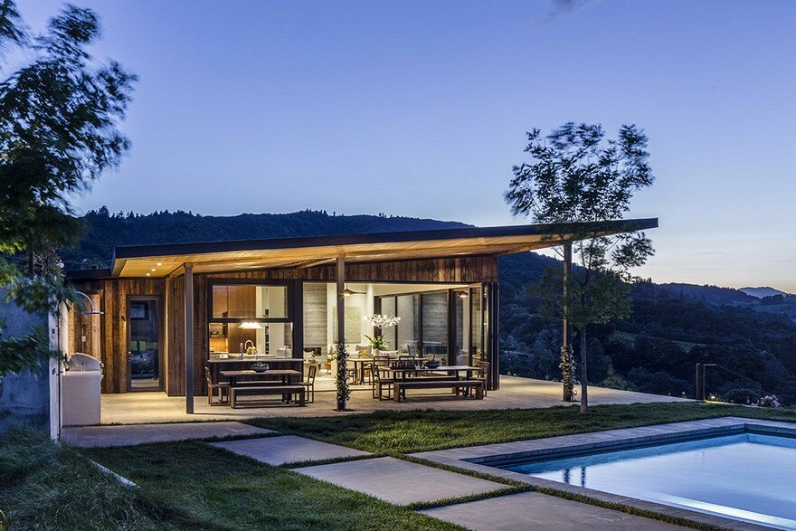 Vineyard house sutro architects and adeeni design for Winery floor plans by architects