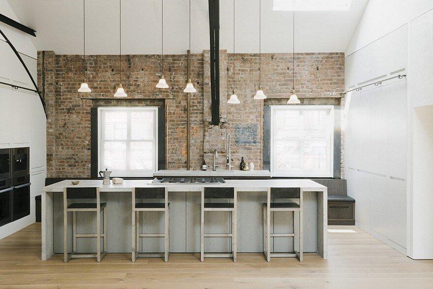 New york loft in the former police headquarters raad studio for New york loft kitchen design
