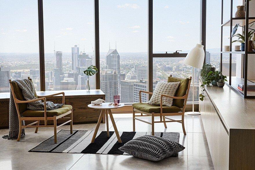 Sky-High Southbank Apartment / Nido Studio Interior Design
