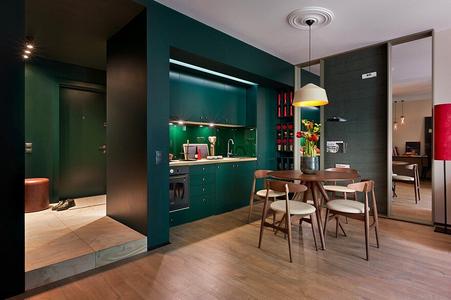 40 sqm apartment takes advantage of color and chic accent for 40 sqm apartment design