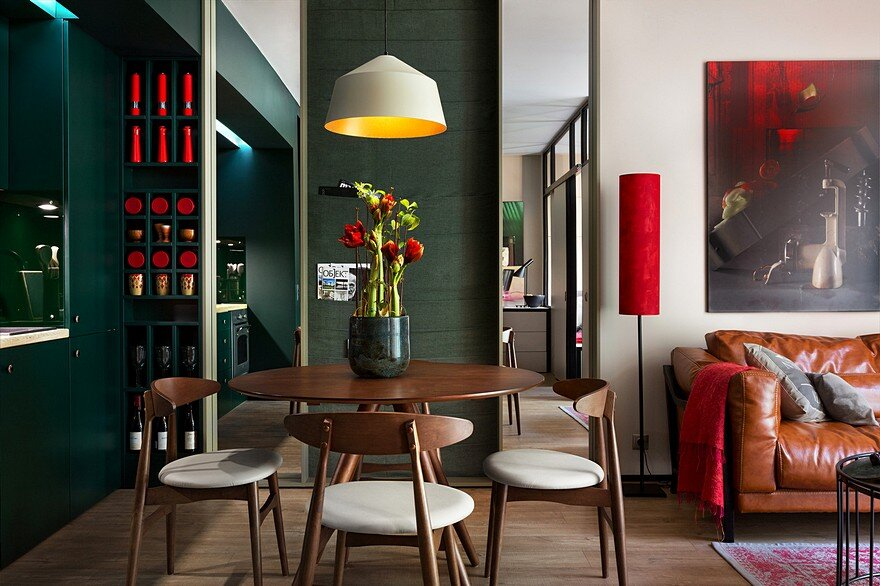 40 sqm Apartment Takes Advantage Of Color And Chic Accent Features
