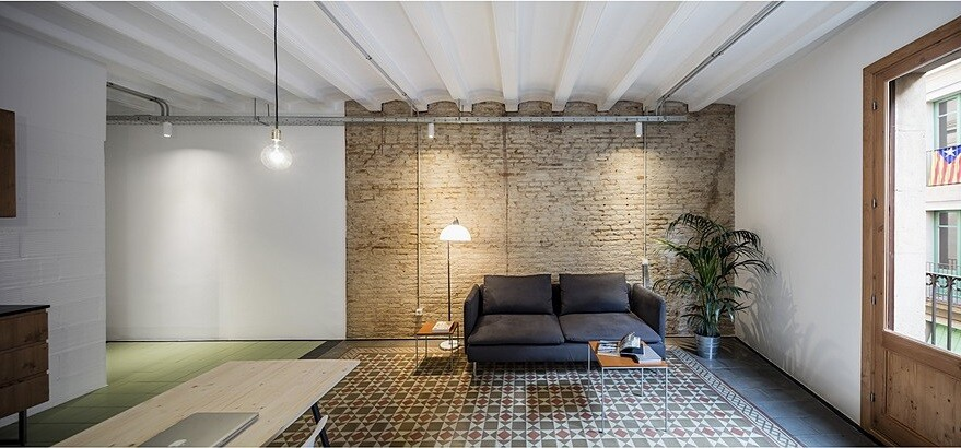 Beautiful Floor Tiles in This Old Barcelona Apartment Remodeled by RÄS 2