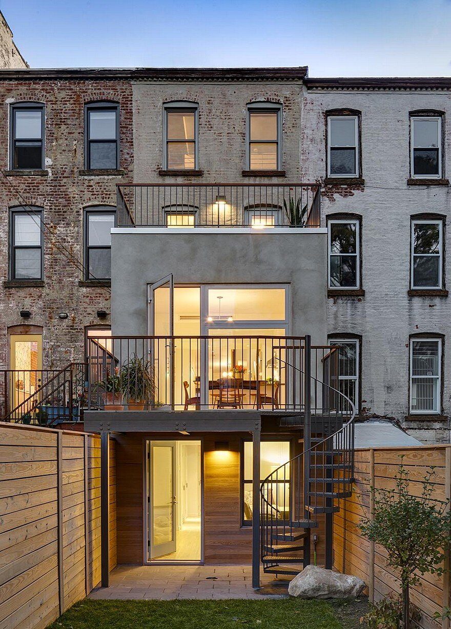 16 Row House Interior Design Ideas: Revamped Narrow Brooklyn Row House Defined By Unique Details