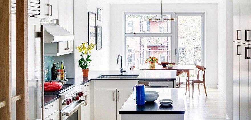 Revamped Narrow Brooklyn Row House Defined by Unique Details
