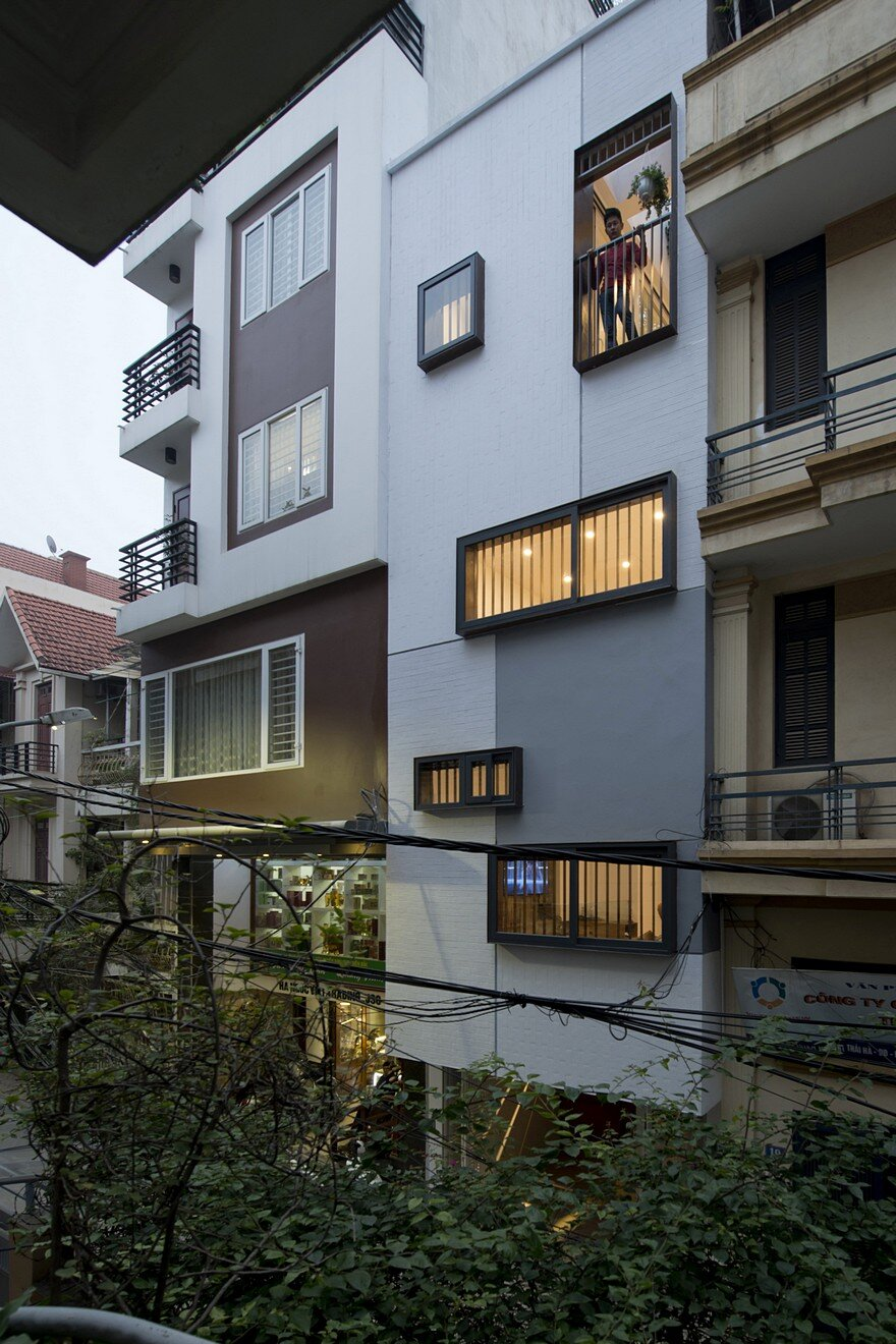 Chic Contemporary Spaces Rendered By Anh Nguyen: Urban House Block In Hanoi By Landmak Architecture