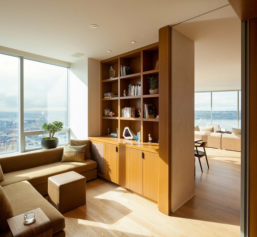 High Rise Apartments: High-Rise Apartment With Floor-to-Ceiling Windows