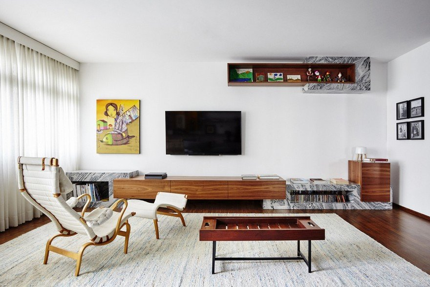 Major Renovation of an Apartment Built in the Early 60´s in Sao Paulo