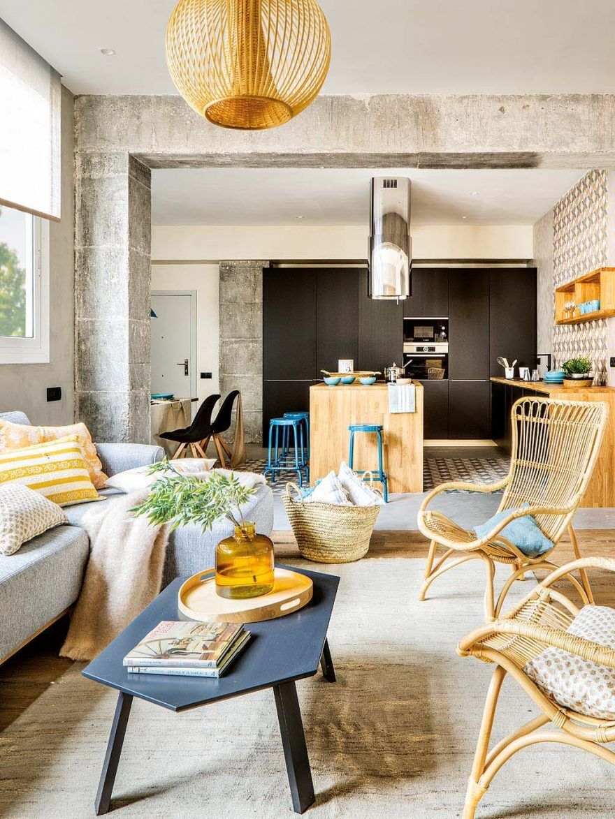 Inspiring spanish apartment features raw industrial details Spanish apartment decor