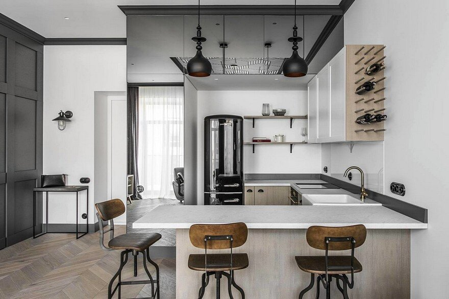 Vilnius Old Town Apartment with a Mix of Modern, Vintage and Industrial Style