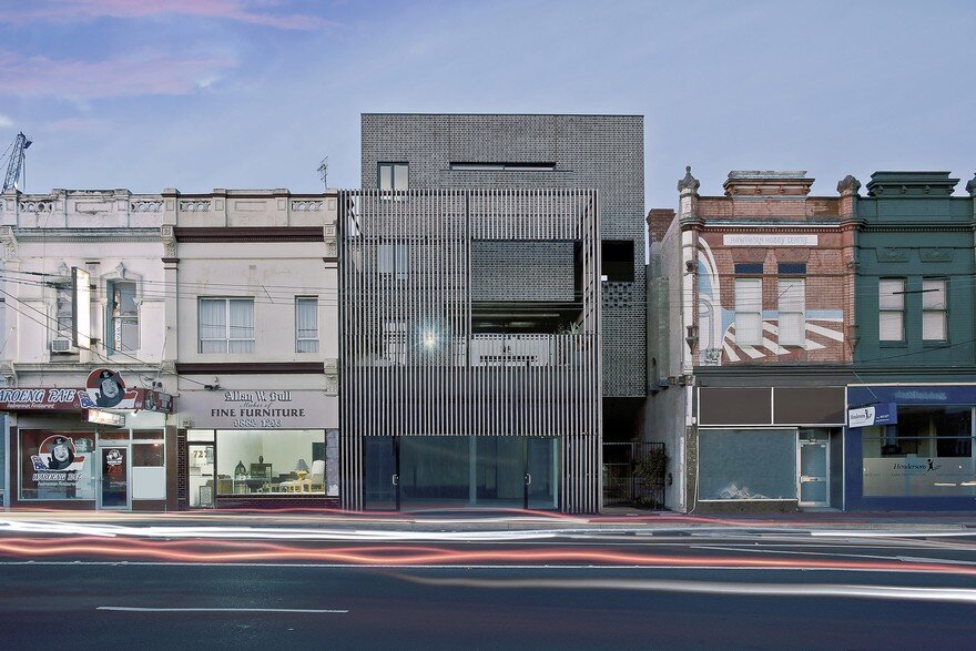 Black Brick Apartments in Hawthorn East, Melbourne