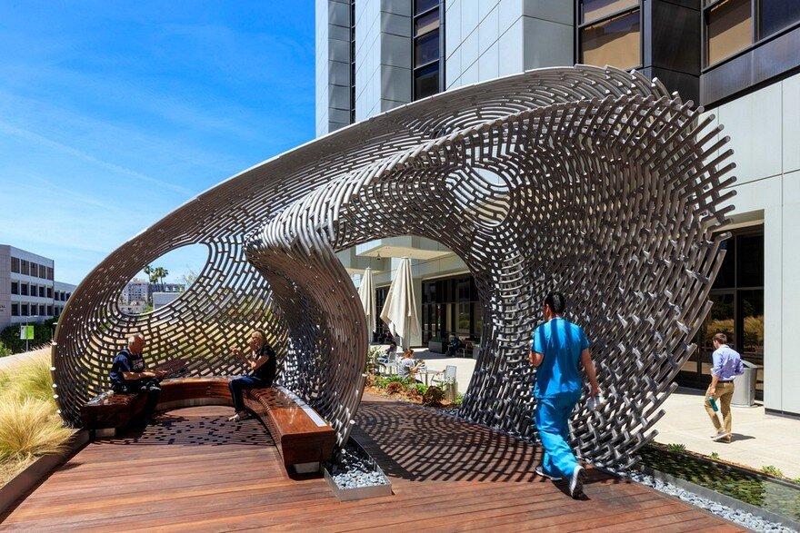 Cedars Sinai Plaza Healing Gardens by AHBE Landscape Architects
